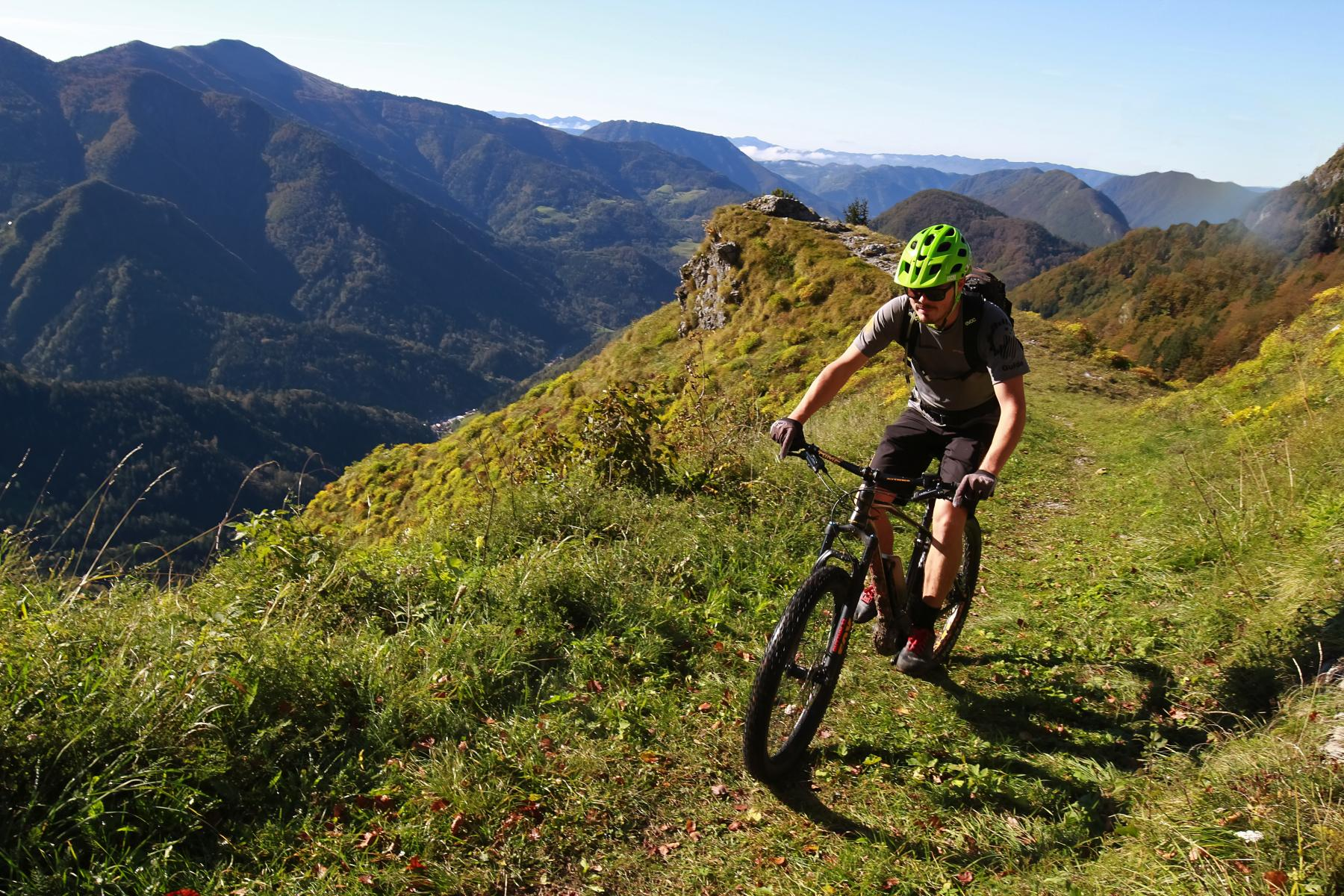 Our MTB guide Mark in action